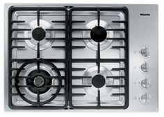 Miele : KM3465LP 30 Stainless Steel Gas Cooktop Miele appliances are available for shipping to all states of the contiguous United States excluding California (CA), Arizona (AZ), Nevada (NV), Florida (FL) and Washington DC..  #Miele #Major_Appliances