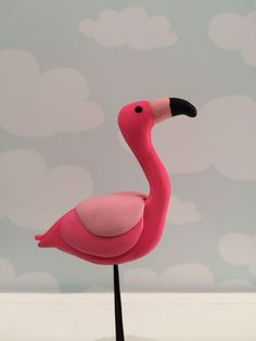 Polymer Clay Flamingo (created Kelly Bouchard)