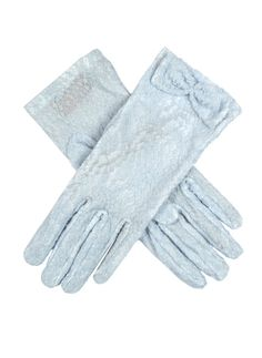 Perfect for a wedding or spring event, these feminine gloves are complemented by an array of pastels shades. Bow detail nylon Unlined button length – These gloves extend approximately inches above the wrist. Lace Gloves, Leather Gloves, Dents Gloves, Lace Bows, Occasion Wear, Costume Design, Fashion Accessories, Feminine, Lady