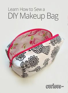DIY Makeup Bag Tutorial - Learn how to make your very own box-shaped makeup bag, step-by-step!