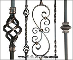 Iron Balusters Iron Spindles Metal Stair Parts Hollow Oil Rubbed Copper Metal Spindles, Wrought Iron Stair Railing, Iron Staircase, Iron Balusters, Metal Stairs, Staircase Railings, Staircase Design, Wood Handrail, Banisters