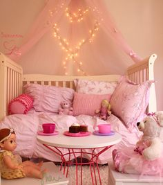 A Chic Toddler Room Fit For a Sweet Little Princess. Tea Time Set up a place for tea for your little princess and her friends. The extra fluffy rug is a plus. Guests won't want to leave once tea time's over.A Chic Toddler Room Fit For a Sweet Little