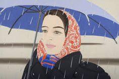 Alex Katz, 'Blue Umbrella' 1972 Portrait image in a landscape format. Note the way the image has been framed and the use of colour and patern. Blue Umbrella, Umbrella Art, Jasper Johns, Arte Pop, Georges Pompidou, Alex Katz, Pop Art Movement, Saatchi Gallery, Social Art