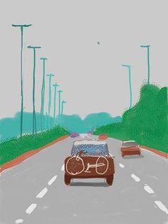 (UK) iPad digital work by David Hockney ). David Hockney Ipad, David Hockney Art, David Hockney Paintings, Pop Art Movement, Ipad Art, Pictures To Paint, Digital Illustration, Art Gallery, Alphonse Mucha