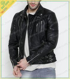 New Men's Genuine Lambskin Leather Jacket Black Slim fit Motorcycle Biker Jacket Riders Jacket, Motorcycle Jacket, Bomber Jacket, Biker, Lambskin Leather Jacket, Leather Men, Leather Jackets, Sports Jacket, Jacket Style
