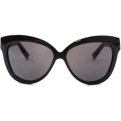 Linda Farrow x The Row Classic Black Sunglasses ($500) ❤ liked on Polyvore featuring accessories, eyewear, sunglasses, glasses, women, linda farrow sunglasses, linda farrow, linda farrow glasses, lens glasses and linda farrow eyewear