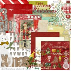 Altered Christmas Special Collection digital scrapbooking kit, by Scrap Girls: Scrap Girls. ALL proceeds from the sale of this kit will be donated to Food For The Poor. How cool is that?!?!