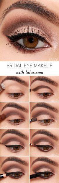 bridal-eye-makeup via Easy Step by Step Bridal Eye Makeup Tutorials