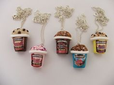 Funky Ben & Jerry's Ice Cream Necklace CHOOSE ANY by mixedupdolly, $18.00
