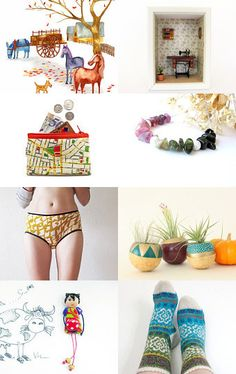 My girl brooch in colorful treasury ! --Pinned with TreasuryPin.com