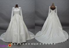 Long Sleeve Wedding Dresses Elegant Long Satin by FashionStreets, $299.00