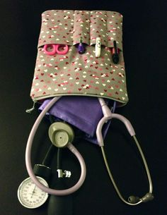 #NURSE PURSE fabric medical case stethoscope and BP cuff  in by LoveAmarie, $38.00 @Lydia's Uniforms #scrubsmag @Megan Marie #stethoscope #cna #lpn #carryall #pouch #supplies #doctor #hearts #pink #valentinesday #nursing @Scrubs Magazine