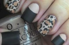 Homemade Leopard Nails