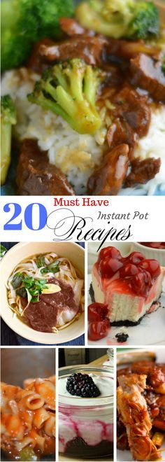 20 Must Have Instant Pot Recipes! Its in the name, you must have these recipes! Pin for Later!