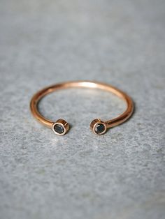 Zoe Chicco Double Black Diamond Ring at Free People Clothing Boutique