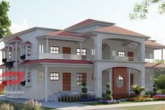 Panash Design Studio - Take a look of our best design list of Commercial Elevation Projects. House Balcony Design, House Outer Design, House Arch Design, House Outside Design, 2 Storey House Design, Best Modern House Design, Modern Exterior House Designs, Classic House Design, Village House Design