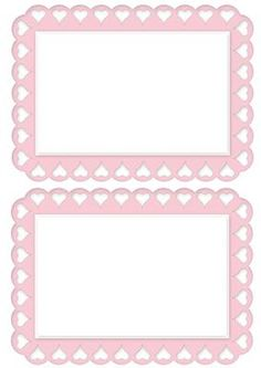 Lovely pink heart A5 Insert on Craftsuprint - Add To Basket!