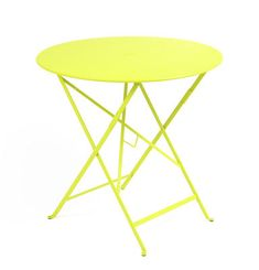 Bistro Table - Ø 77cm - Foldable - With umbrella hole by Fermob