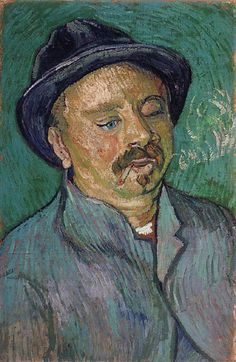 Portrait of a One-Eyed Man, 1888. Vincent van Gogh