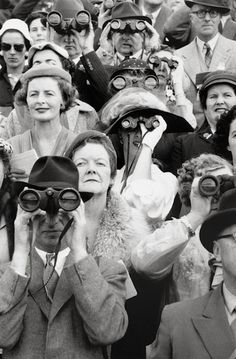 David Moore - Dublin Horse Show spectators, 1956. S)