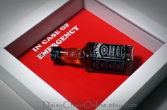 Jack Daniels - In Case of Emergency - Whiskey Bottle, Gift for Boyfriend, Husband, Mancave, Bachelor party, Alcohol Gift, Gift for Boss
