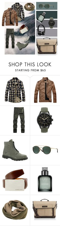 """""""Аutumn!"""" by natali-voshchenko ❤ liked on Polyvore featuring Timberland, Ray-Ban, Romeo Gigli, Calvin Klein, Edit. Tokyo, Want Les Essentiels de la Vie, Beats by Dr. Dre, men's fashion and menswear"""
