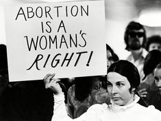 Roe v. Wade declared abortion legal, and used a woman's right to privacy as justification, giving women further rights and empowerment in their civil rights movement. Feminist Quotes, Feminist Art, Protest Signs, Political Signs, Power To The People, Pro Choice, Women Empowerment, Equality, Crime