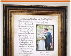 Wedding Quotes :Unique Wedding Day Gifts For Parents of the Bride Mother and Father from Daughter Thank You Gift For Parents, Wedding Thank You Gifts, Wedding Gifts For Parents, Mother Of The Groom Gifts, Wedding Gifts For Groom, Mother In Law Gifts, Father Of The Bride, Personalized Wedding Gifts, Our Wedding Day