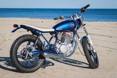 "Yamaha SR250 ""Little Blue"" - C59R - Inazuma Cafe Racer"