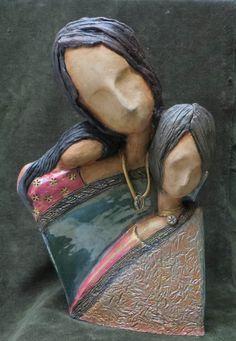 Glazed stoneware clay.
