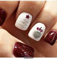 25+ Christmas nails for this season 2018 - Reny styles