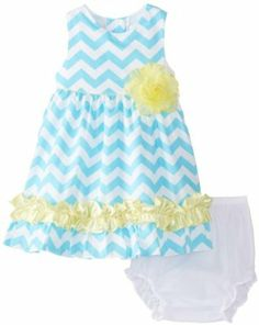 Rare Editions Baby Baby-Girls Infant Chevron Printed Woven Dress Price: $34.99  You Save: $17.01