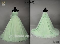Source Real Samples A Line Sweeetheart Backless Bownot Ruffled Organza Fashion Lime Green Wedding Dress on m.alibaba.com