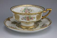Gorgeous and RARE GDA Limoges Porcelain Gold Gilt Enameled Tea Cup | eBay
