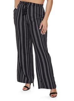a78adfcf658 Plus Size Textured Knit Striped Palazzo Pants. Black Palazzo PantsPlus Size  Womens ClothingElastic WaistWide LegHarem PantsPajama ...