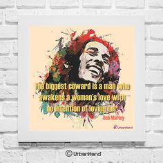 Bob Marley 1  Digial Download  Quote Art Print by UrbanHand