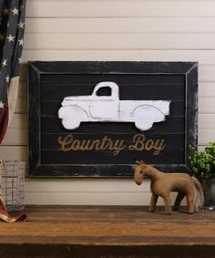 Add instant country-inspired flair to a wall with this playfully oversize piece. Made from southern pine plywood, it's guaranteed to lend plenty of warm, rustic charm to any living space.