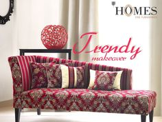 Add a #Contemporary feel to your #Decor with eyeful #Colors and #Elegant look. Explore more on www.homesfurnishings.com #HomeFabrics #Cushions #Curtains #Upholstery #HomesFurnishings #Furnishings #FineFabric