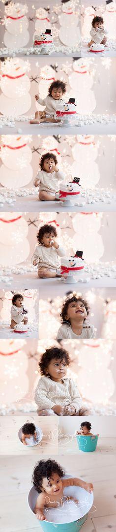 first birthday cake smash, cakesmash photography, winter cake smash, snowman cakesmash, baby photography © Dimery Photography 2015