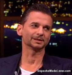 Dave Gahan with Depeche Mode on the Jonathan Ross show.  Edited  & enlarged photos by DepecheModeLover from video, Enjoy!