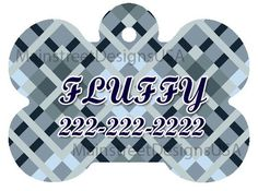 Monogram Personalized Dog Pet ID Tag Name Abstract Geometric Pattern Pet Accessory Supply Dog Lover Gift 1 by MainStreetDesignsUSA on Etsy https://www.etsy.com/listing/493301979/monogram-personalized-dog-pet-id-tag