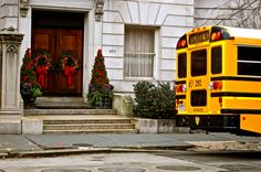 wave at kids on school buses