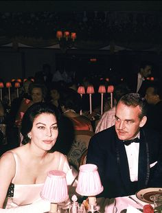 Prince Rainier with actress Ava Gardner, 1962.  Further proof that the blonde always ends up with the guy!