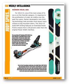 MARKER & VOLKL SGI WEEKLY February 2012