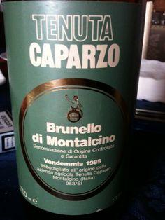 Brunello di Montalcino: Caparzo 1985!!