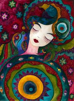 Uykuda by ~Doriah on deviantART  **her style reminds me of Laurel Burch