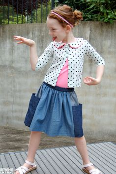 skirts and cardigans Sewing Ideas, Sewing Projects, Sewing Patterns, Pink Cow, Kids Outfits, Cute Outfits, Handmade Clothes, Needle And Thread, Dress Me Up