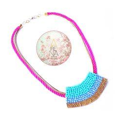 """¡Dale color y vida a tu viernes! con los accesorios de nuestra nueva colección """"Dalila"""" ❤ Collar Ambrosia ❤ disponible en @liniofashionco www.liniofashion.com.co  Si quieres conocer mas de nuestra propuesta en diseño Sigue nuestras redes sociales o escribenos a arenabyastrid@gmail.com o a nuestros teléfonos de contacto 00573044426072 y 00584161703728  #viernes #ambrosia #collar #necklace #love #handmade #fashion #moda"""