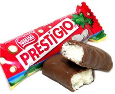 Brazilian version of a Mounds bar. Coconut and chocolate: a great combo.