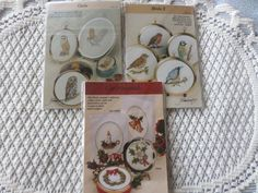 Shop for on Etsy, the place to express your creativity through the buying and selling of handmade and vintage goods. Christmas Charts, Cross Stitch Charts, Paper Weights, Handmade Crafts, Trinket Boxes, Owls, Frames, Miniatures, Birds